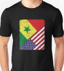 Senegal American Flag Apparel Unisex T-Shirt