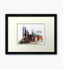 I love Cracow Wawel Castel Framed Print