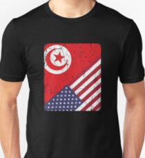 Tunisia American Flag Apparel Unisex T-Shirt