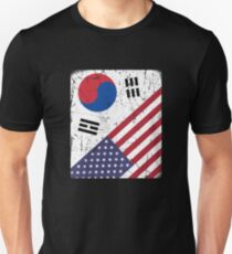 South Korea Flag Korean American Apparel Unisex T-Shirt