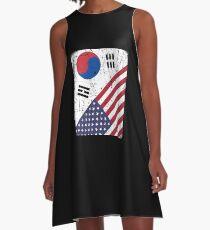 South Korea Flag Korean American Apparel A-Line Dress