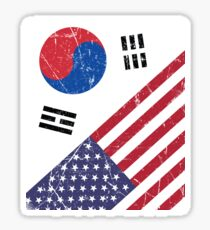 South Korea Flag Korean American Apparel Sticker