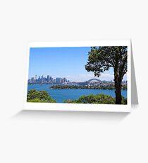 Sydney City Under Blue Sky Greeting Card