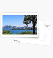 Sydney City Under Blue Sky Postcards