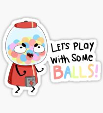 let's play with some balls Sticker