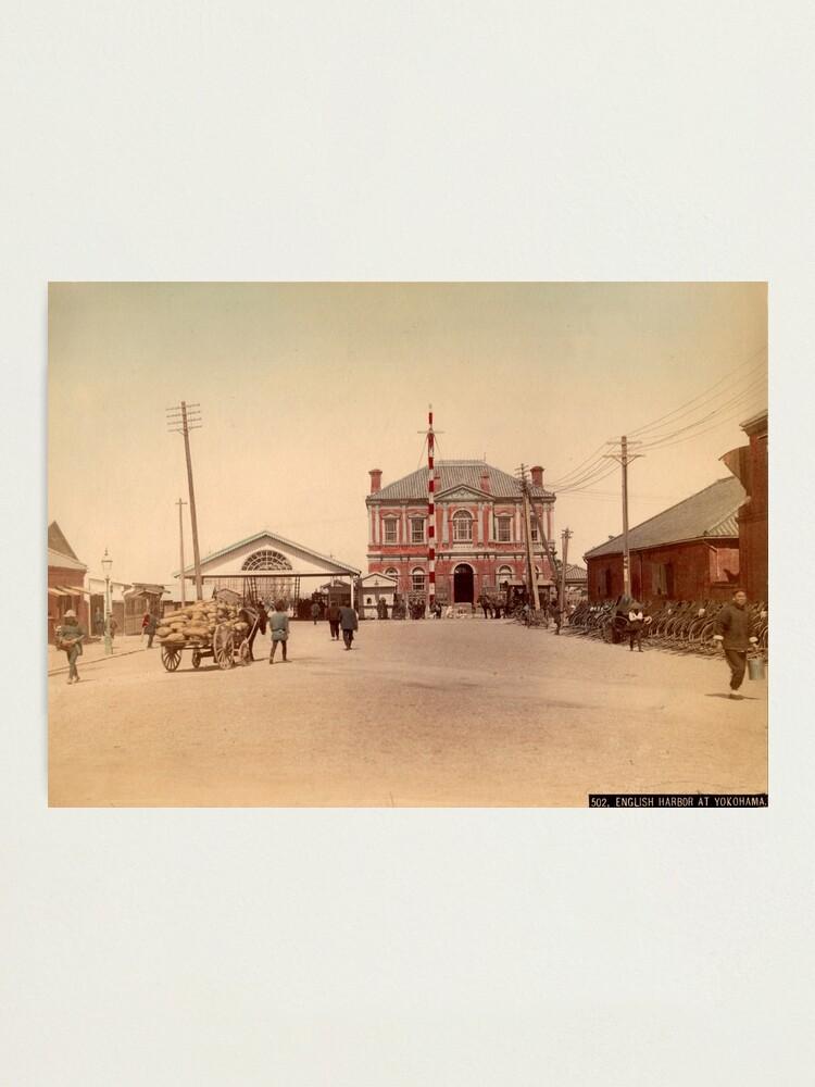 Alternate view of English harbor at Yokohama Photographic Print