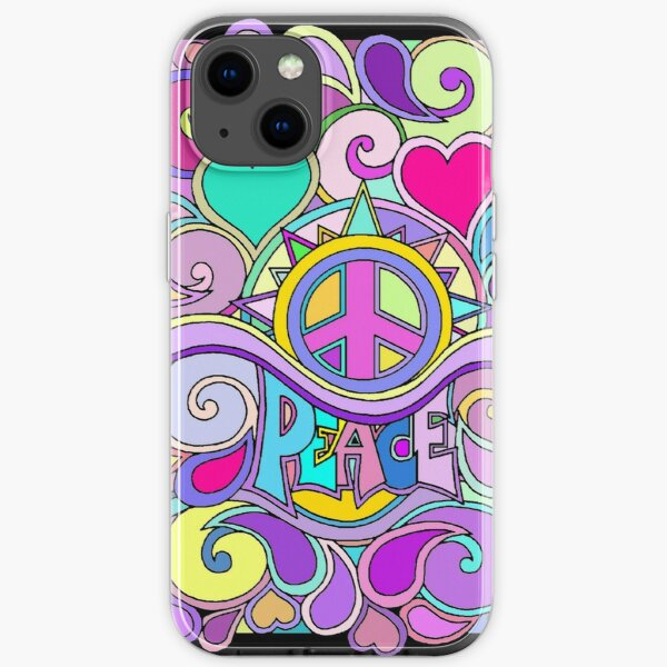 Psychedelic Hippy Retro Peace Art iPhone Soft Case