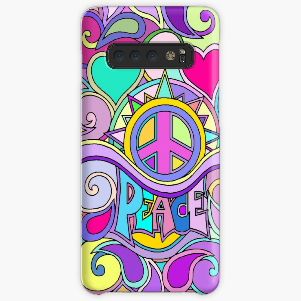 Psychedelic Hippy Retro Peace Art Case & Skin for Samsung Galaxy