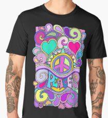 Psychedelic Hippy Retro Peace Art Men's Premium T-Shirt