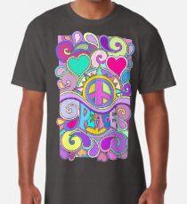 Camiseta larga Psychedelic Hippy Retro Peace Art
