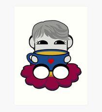 STPC: Haha Do O'BOT Toy Robot (Tea) Art Print
