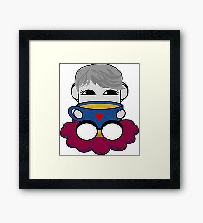 STPC: Haha Do O'BOT Toy Robot (Tea) Framed Art Print