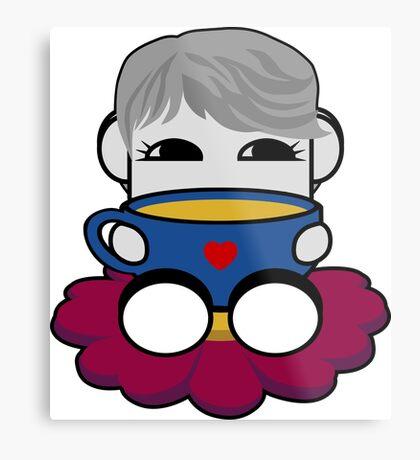 STPC: Haha Do O'BOT Toy Robot (Tea) Metal Print