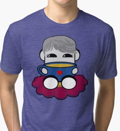 STPC: Haha Do O'BOT Toy Robot (Tea) Tri-blend T-Shirt