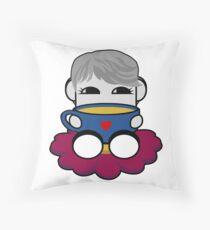 STPC: Haha Do O'BOT Toy Robot (Tea) Throw Pillow