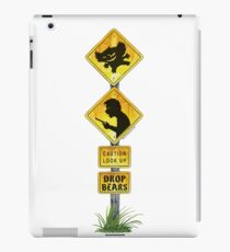 Drop Bear Sign Look Up iPad Case/Skin