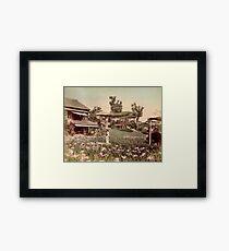 Iris garden at Horikiri, Japan Framed Print
