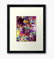 Colorful Geometric Flower Pattern Framed Print