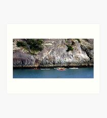 Bowman Bay Kayakers One Art Print