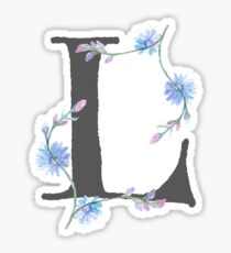 Flowery 'L' Sticker