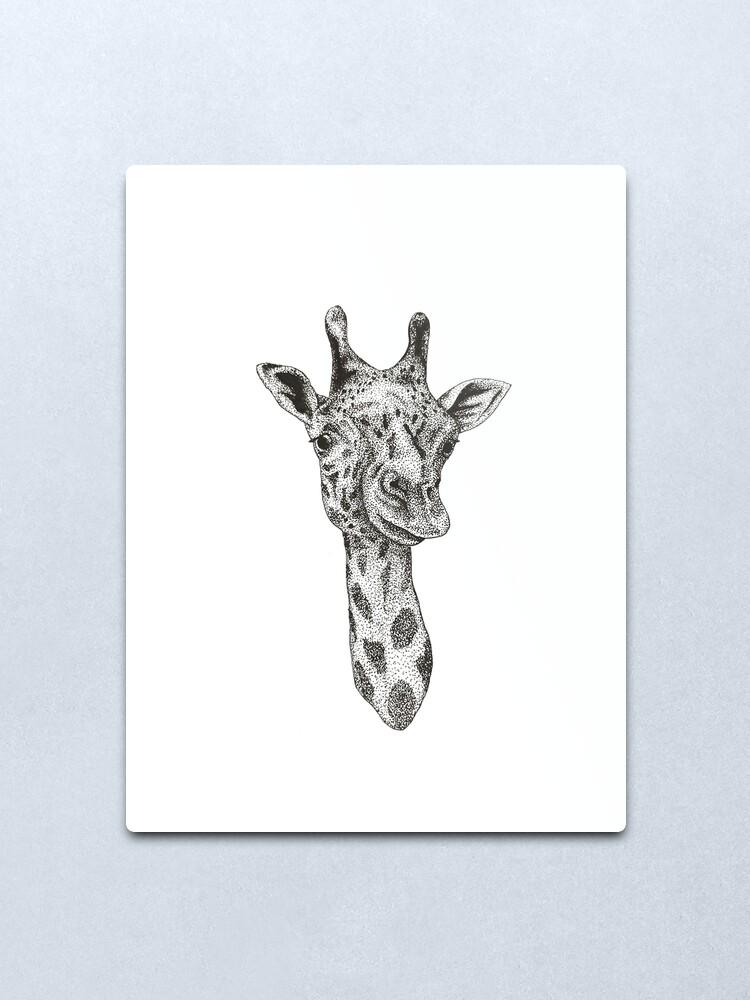 Purple Giraffe Animal Minimal Minimalist Drawing Home Decor Art Poster Print