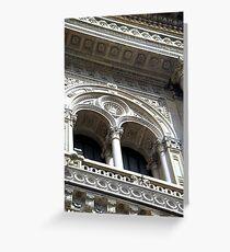 Milan - Galleria Vittorio Emanuele II - detail Greeting Card