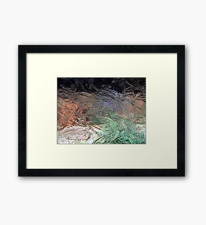 Outside Through Frosted Glass Framed Print