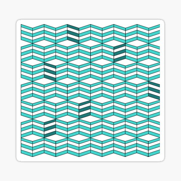 Cube pattern Sticker