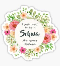 Schwa - Never Stressed Sticker