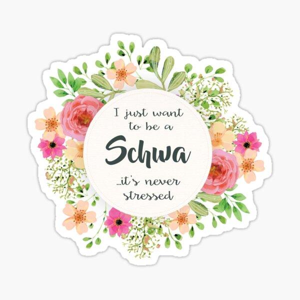 Schwa - Nie gestresst Sticker
