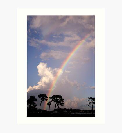 Rainbow & Rain Art Print