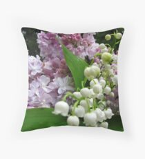 Inhale and smile Throw Pillow
