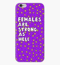 Vinilo o funda para iPhone Las mujeres son fuertes como el infierno