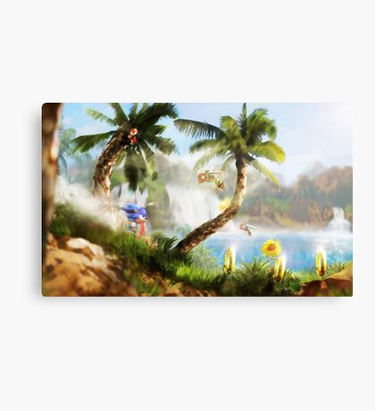 Green Hill Zone Canvas Print