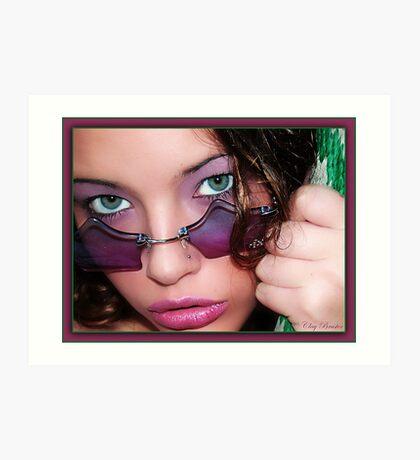 Green Eye'd Girl Art Print