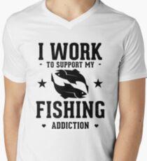 Fishing Addiction Men's V-Neck T-Shirt