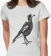 Australian Magpie Women's Fitted T-Shirt