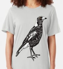 Australian Magpie Slim Fit T-Shirt