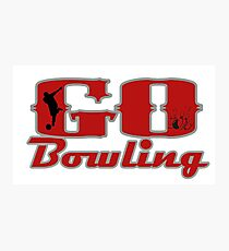 Go Bowling Photographic Print