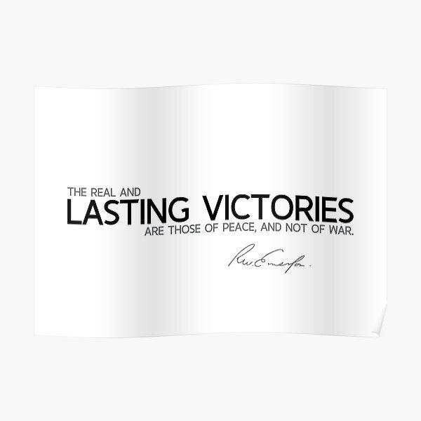 lasting victories - waldo emerson Poster