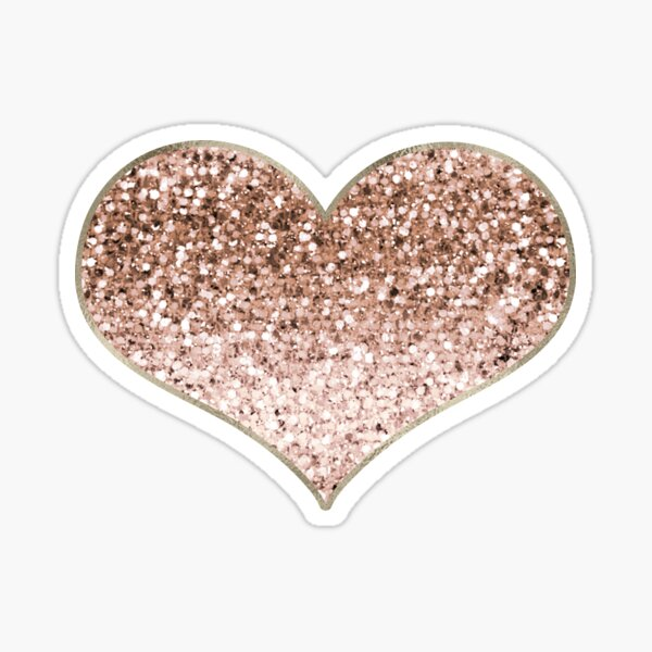 Heart - rose gold glitter  Sticker