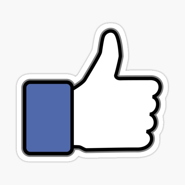 Thumbs up down up Sticker