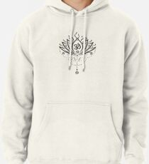 Lotus Blume, Yoga, black version Hoodie