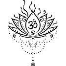 Lotus Blume, Yoga, black version von Christine Krahl