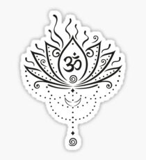 Lotus Blume, Yoga, black version Sticker