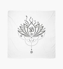 Lotus Blume, Yoga, black version Tuch