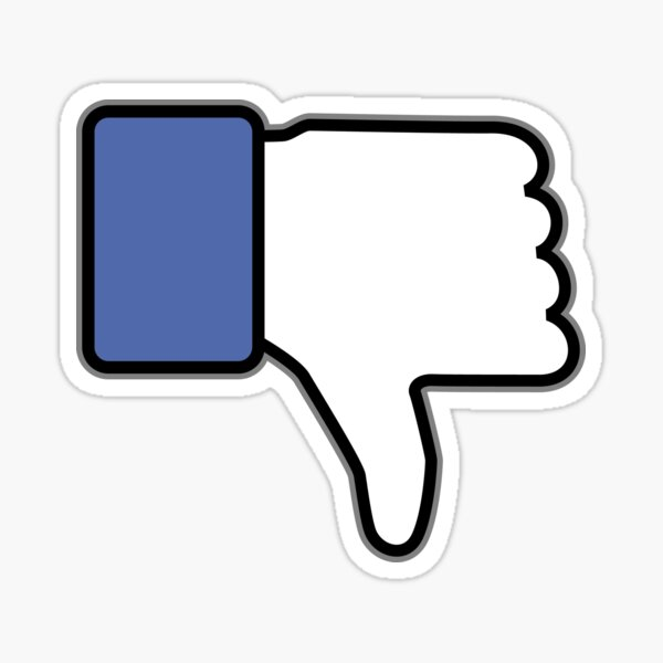 Thumbs down up down Sticker