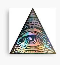 Kosmisches Auge der Vorsehung Metalldruck