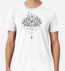 Lotus Blume, Yoga, black version Premium T-Shirt