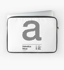 a .... Helvetica Neue (b) Laptop Sleeve
